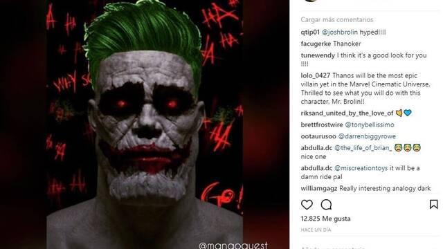 Josh Brolin enseña cómo sería Thanos caracterizado como El Joker