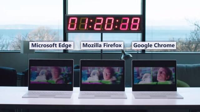 Microsoft lanza un vídeo para demostrar que Edge es el mejor navegador para la autonomía de tu portátil
