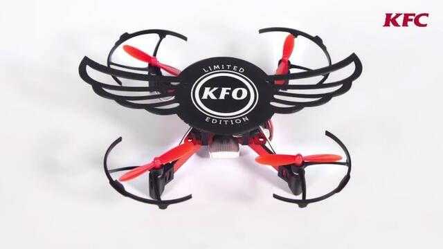 """KFC inventa una caja de alitas que se """"convierte"""" en dron"""
