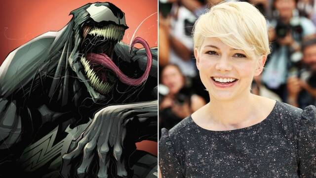 Tom Hardy y Michelle Williams en el set de 'Venom'