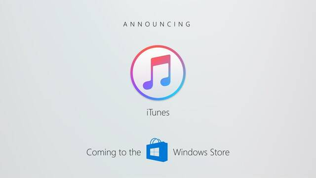iTunes está cerca de lanzarse en Windows Store
