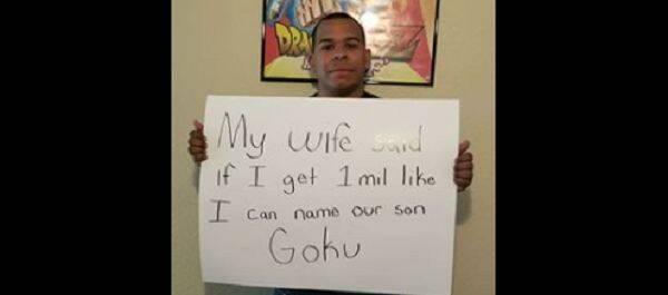 Consigue más de un millón de 'Me gusta' para llamar a su hijo 'Goku'