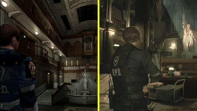 Comparan la demo de Resident Evil 2 Remake con el juego original