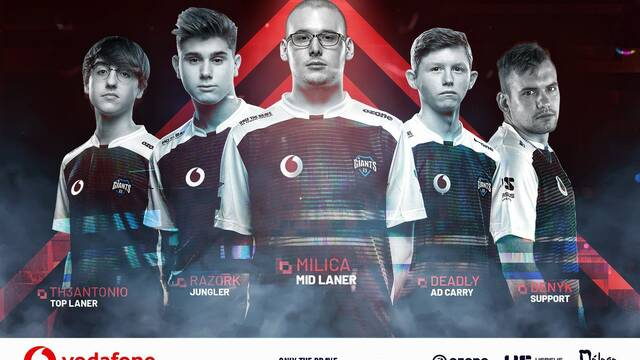 Vodafone Giants nos adelanta su equipo de League of Legends para 2019
