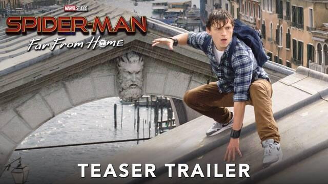 Spider-Man: Lejos de casa despliega toda su acción en su primer tráiler