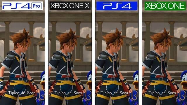 Así se ve y rinde Kingdom Hearts 3 en todas las consolas