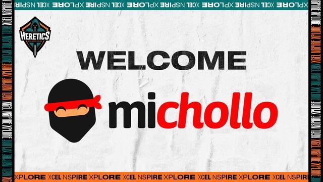 Michollo se convierte en el nuevo patrocinador de Team Heretics