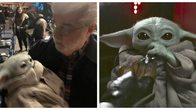 George Lucas comparte foto con Baby Yoda