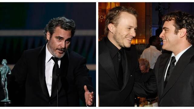 Joaquin Phoenix recuerda a Heath Ledger y las redes aplauden