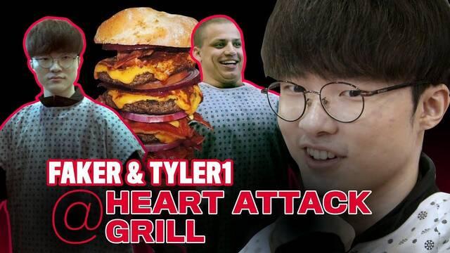 Tyler1 es azotado por no terminar una hamburguesa de 20.000 calorías comiendo con Faker