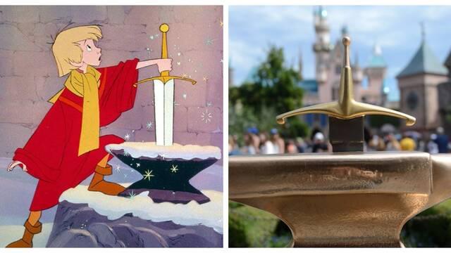 Intentan llevarse la espada de Disneyland... y fracasan