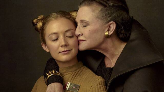 Star Wars: Billie Lourd interpretó a la princesa Leia en un flashback
