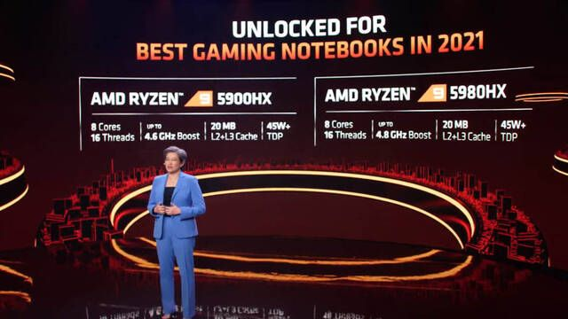CES 2021: AMD presenta sus procesadores Ryzen 9 5900HX y 5980HX para portátiles gamer