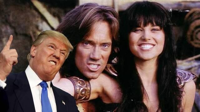 Xena y Hércules se pelean por Donald Trump en Twitter