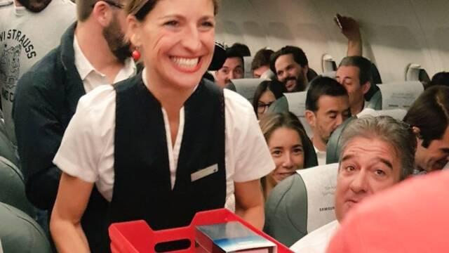 Samsung regaló 200 Galaxy Note 8 a los pasajeros de un vuelo Madrid-Coruña