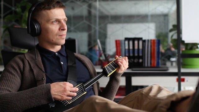 Lleva la música a todas partes con Jammy, la guitarra compacta
