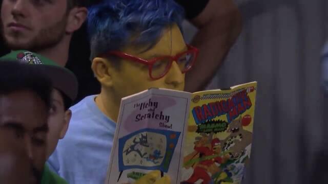 Descubren a Milhouse de 'Los Simpsons' disfrutando de un partido de la NBA