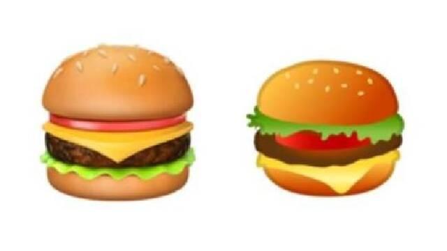 El emoji de la hamburguesa de Google en el ojo del debate