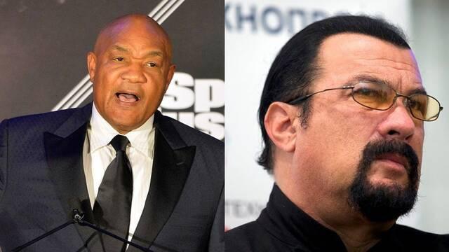 George Foreman reta a Steven Seagal a una pelea por política