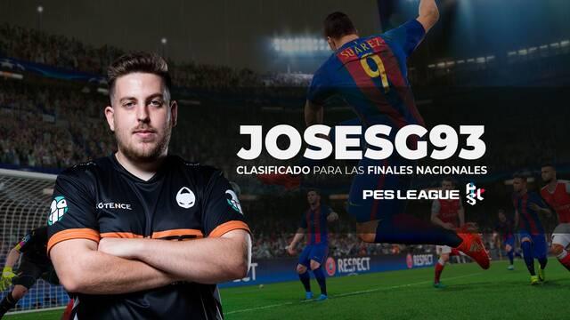 Josesg93, jugador de PES 2019 en x6tence, se clasifica para la Final Nacional