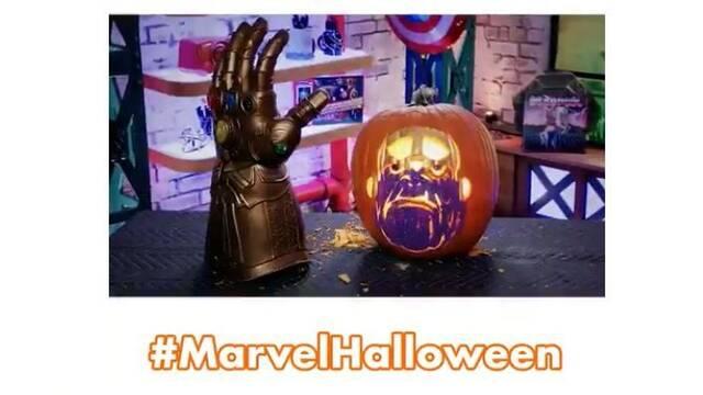 Marvel te enseña cómo hacer tu propia calabaza para Halloween de Thanos