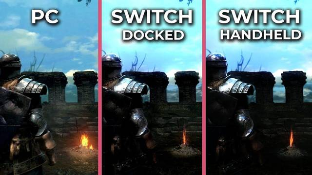 Comparativa gráfica: Dark Souls Remastered en PC, Switch y Switch en modo portátil