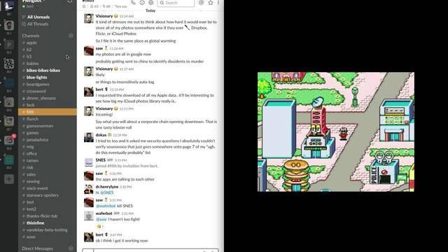 Logran enviar mensajes de una herramienta de chat a un juego de SNES de 1995