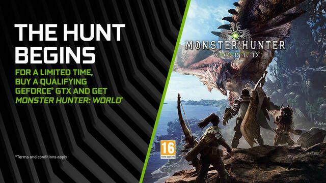 NVIDIA estrena un nuevo bundle con Monster Hunter: World