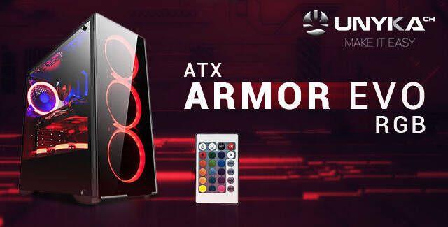 Así es Armor Evo, la nueva caja para jugones con iluminación RGB