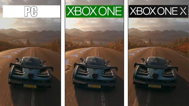 Comparativa gráfica: Forza Horizon 4 en PC, Xbox One y Xbox One X