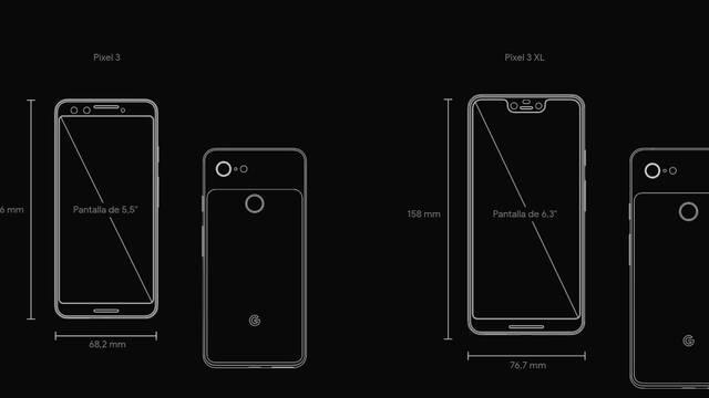Pixel 3 y Pixel 3 XL: Especificaciones técnicas