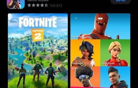 Rumor: Fortnite Capítulo 2 se deja ver en la App Store de Apple