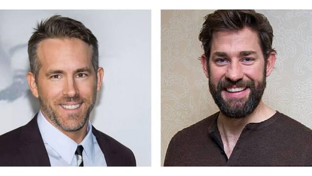 Ryan Reynolds y John Krasinski juntos en la comedia Imaginary Friends