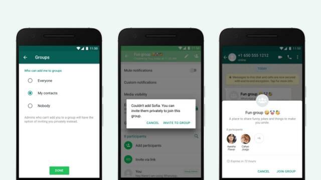 WhatsApp activa una función para que no te metan en grupos de forma automática