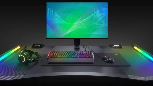 Cougar Mars, la nueva mesa para gamers con iluminación RGB