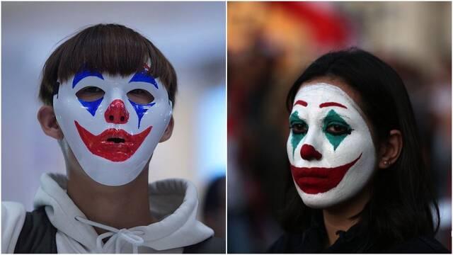 Manifestantes empiezan a llevar máscaras del Joker en Líbano, Chile y Hong Kong