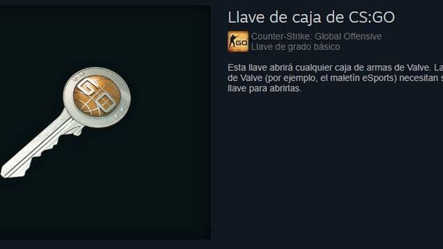 Valve prohíbe la venta de llaves de cajas de botín de CS:GO