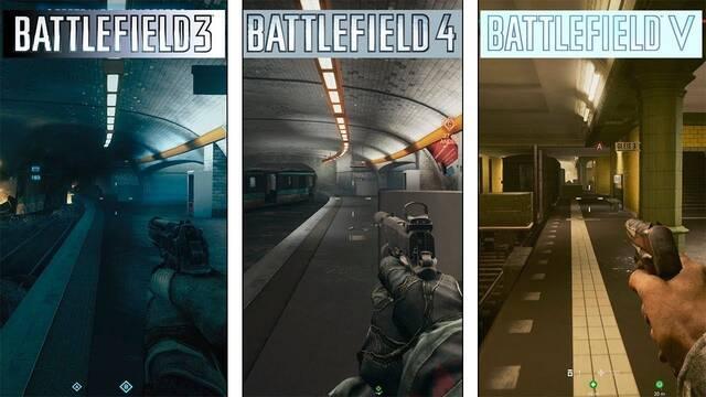 Así ha evolucionado gráficamente Operación Metro en Battlefield 3, 4 y 5