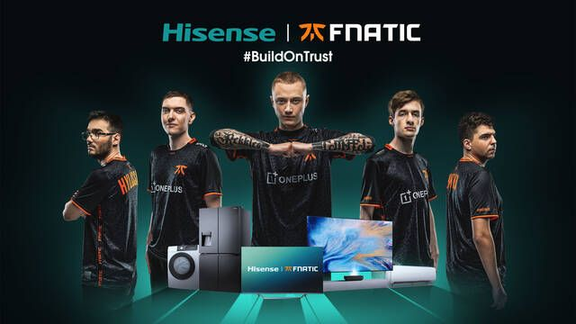 Hisense entra en los esports patrocinando a Fnatic