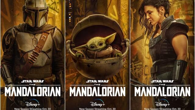 The Mandalorian: Disney+ presenta nuevos pósters de los personajes