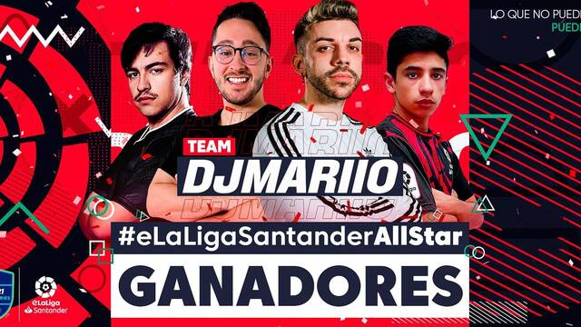 Team DJMarioo vence en el torneo de exhibición #eLaLigaSantanderAllStar