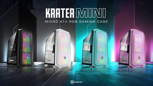 Nforctec presenta sus nuevos chasis Krater Mini en formato Micro ATX
