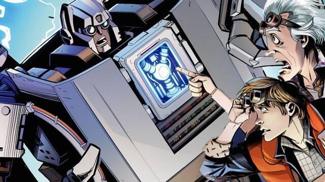 Regreso al futuro y Transformers se unirán en un crossover con forma de cómic