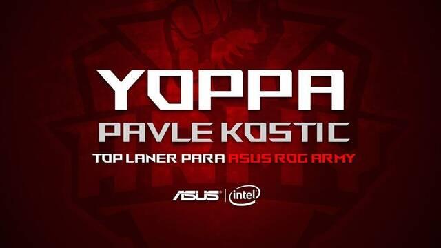 ASUS ROG Army anuncia el fichaje de su nuevo top: Yoppa