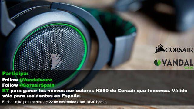 Sorteamos los nuevos cascos Corsair HS50
