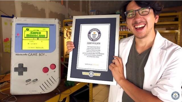 Construye una Game Boy gigante para llevarse un récord Guinness