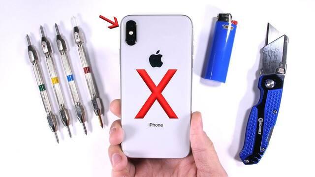 La resistencia del iPhone X a prueba, ¿aguantará el famoso test de JerryRigEverything?