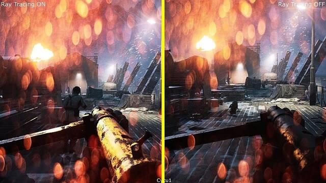 Así luce Battlefield V con y sin RTX