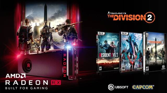 AMD regala Resident Evil 2, Devil May Cry 5 y The Division 2 con sus RX Vega y RX 590
