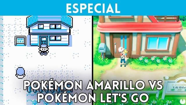 Comparativa gráfica: Pokémon Amarillo VS. Pokémon Let's Go Pikachu